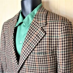 Cashmere Houndstooth Sport Coat/ Size 40